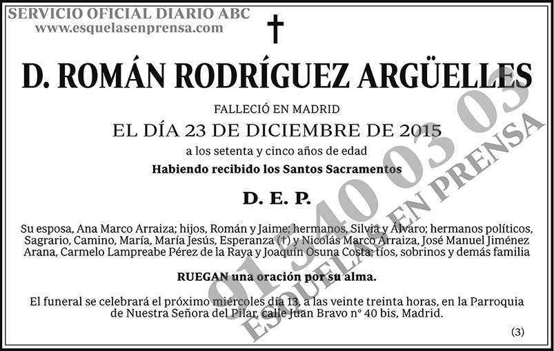 Román Rodríguez Argüelles